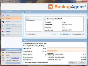 Cloud Online Backup With BackupAgent